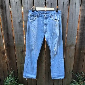 Vintage Distressed Levi's Men's Jeans